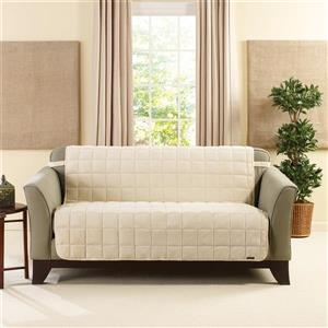 Sure Fit Deluxe Pet Loveseat Cover - 73-in x 37-in - Ivory