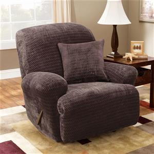 Sure Fit Royal Diamond Recliner Cover - 30-in x 40-in - Chocolate