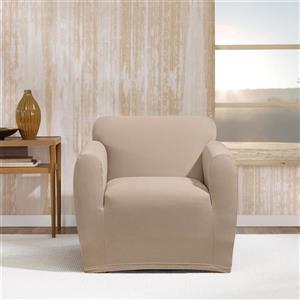 Sure Fit Stretch Morgan Chair Cover - 48-in x 37-in - Khaki