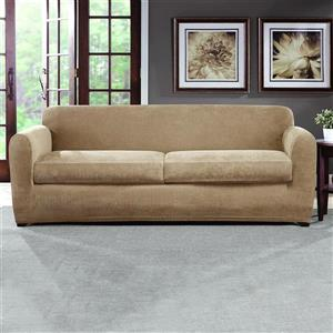 Sure Fit Ultimate Chenille Sofa Cover - 96-in x 37-in - Tan