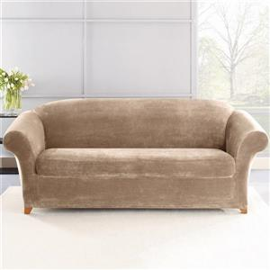 Sure Fit Stretch Plush Sofa Cover - 96-in x 37-in - Storm Blue
