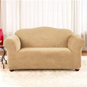 Sure Fit Stretch Pique Loveseat Cover - 73-in x 37-in - Cream