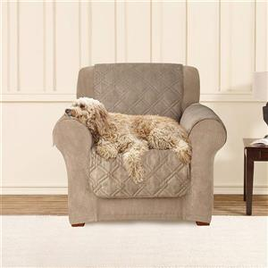Sure Fit NovaCool Pet Armchair Cover - 48-in x 37-in - Taupe