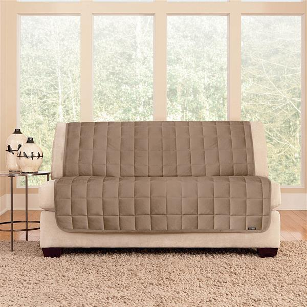 Sure Fit Deluxe Pet Sofa Cover - 96-in x 37-in - Sable