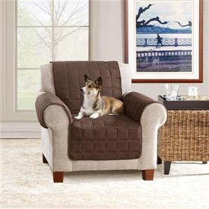 Sure Fit Ultimate Waterproof Armchair Cover - 48-in x 37-in - Chocolate