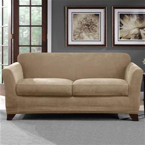 Sure Fit Ultimate Chenille Loveseat Cover - 73-in x 37-in - Tan