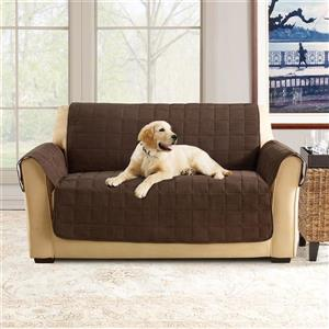Sure Fit Ultimate Waterproof Loveseat Cover - 73-in x 37-in - Chocolate