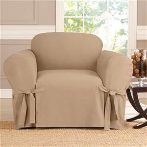 Sure Fit Sailcloth Chair Cover - 48-in x 37-in - Khaki