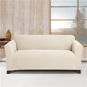 Sure Fit Stretch Morgan Loveseat Cover - 73-in x 37-in - Ivory