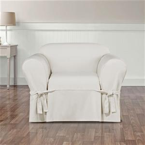 Sure Fit Essential Twill Chair Cover - 48-in x 37-in - White