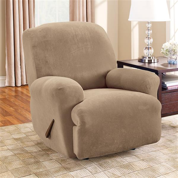 Sure Fit Stretch Pique Recliner Cover - 30-in x 40-in - Taupe