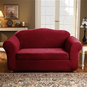 Sure Fit Royal Diamond Loveseat Cover - 73-in x 37-in - Wine