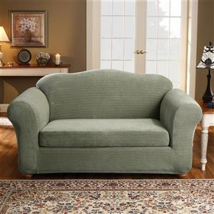 Sure Fit Royal Diamond Loveseat Cover - 73-in x 37-in - Sage
