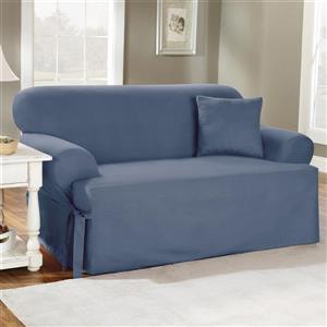 Sure Fit Duck Solid Sofa Cover - 96-in x 37-in - Stone Blue