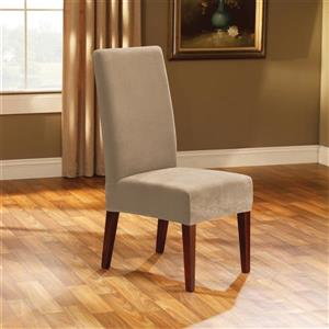 Sure Fit Stretch Pique Dining Chair Cover - 18.5-in x 42-in - Cream