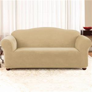 Sure Fit Stretch Pique Sofa Cover - 96-in x 37-in - Cream