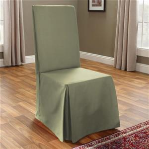 Sure Fit Duck Solid Dining Chair Cover - 18.5-in x 42-in - Sage