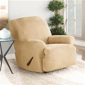 Sure Fit Stretch Suede Recliner Cover - 30-in x 40-in - Camel