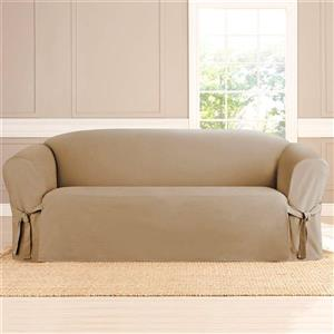 Sure Fit Sailcloth Sofa Cover - 96-in x 37-in - Khaki