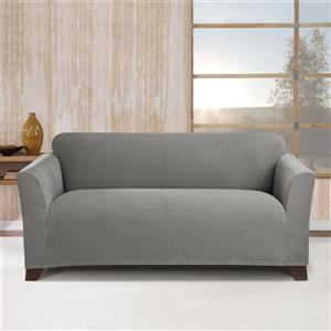 Sure Fit Stretch Morgan Loveseat Cover - 73-in x 37-in - Grey
