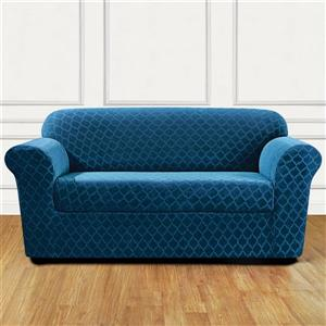 Sure Fit Grand Marrakesh Loveseat Cover - 73-in x 37-in - Nile Blue