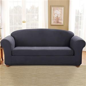 Sure Fit Stretch Suede Sofa Cover - 96-in x 37-in - Storm Blue