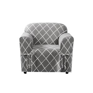 Sure Fit Lattice Chair Cover - 48-in x 37-in - Grey