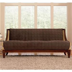 Sure Fit Deluxe Pet Sofa Cover - 96-in x 37-in - Chocolate