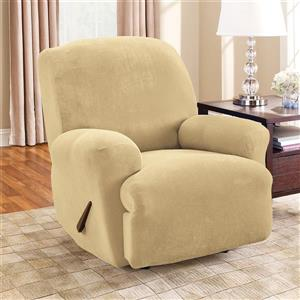 Sure Fit Stretch Pique Recliner Cover - 30-in x 40-in - Cream
