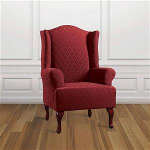 Sure Fit Grand Marrakesh Wing Chair Cover - 29-in x 42-in - Paprika