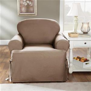 Sure Fit Duck Solid Chair Cover - 48-in x 37-in - Linen