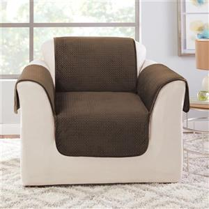 Sure Fit Elegant Pick Stitch Armchair Cover - 48-in x 37-in - Brown