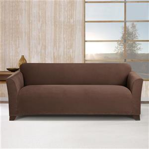 Sure Fit Stretch Morgan Sofa Cover - 96-in x 37-in  - Chocolate