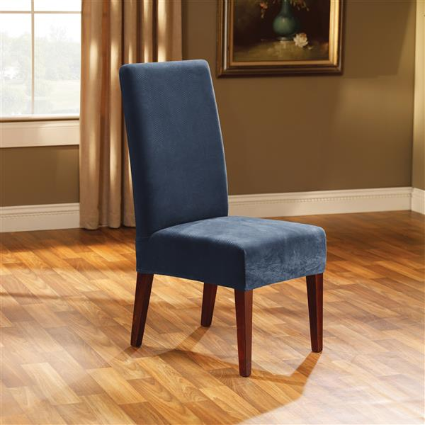 Sure Fit Stretch Pique Dining Chair Cover - 18.5-in x 42-in - Navy