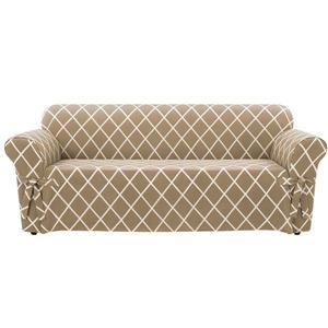 Sure Fit Lattice Sofa Cover - 96-in x 37-in - Tan