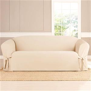 Sure Fit Sailcloth Sofa Cover - 96-in x 37-in - Natural