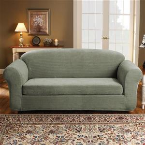 Sure Fit Royal Diamond Sofa Cover - 96-in x 37-in - Sage