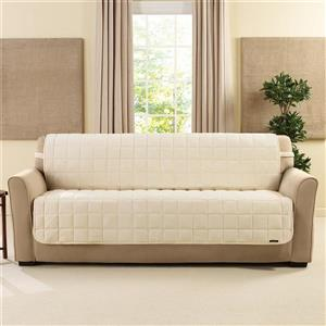 Sure Fit Deluxe Pet Sofa Cover - 96-in x 37-in - Ivory