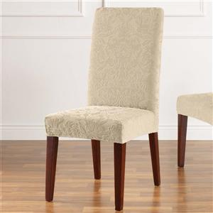 Sure Fit Jacquard Damask Dining Chair Cover - 18.5-in x 42-in - Oyster