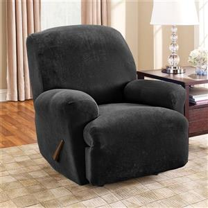 Sure Fit Stretch Pique Recliner Cover - 30-in x 40-in - Black