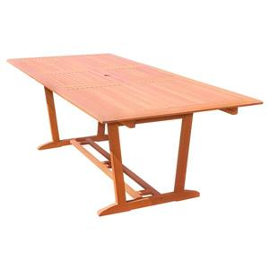 Vifah Malibu Rectangular Extension Table