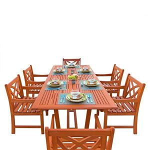 Ensemble à dîner extensible pour patio Malibu de Vifah, 7 mcx