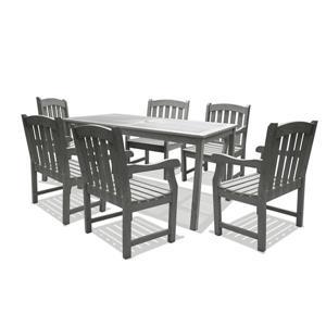 Ensemble de table à dîner Renaissance de Vifah, bois dur, 7 mcx