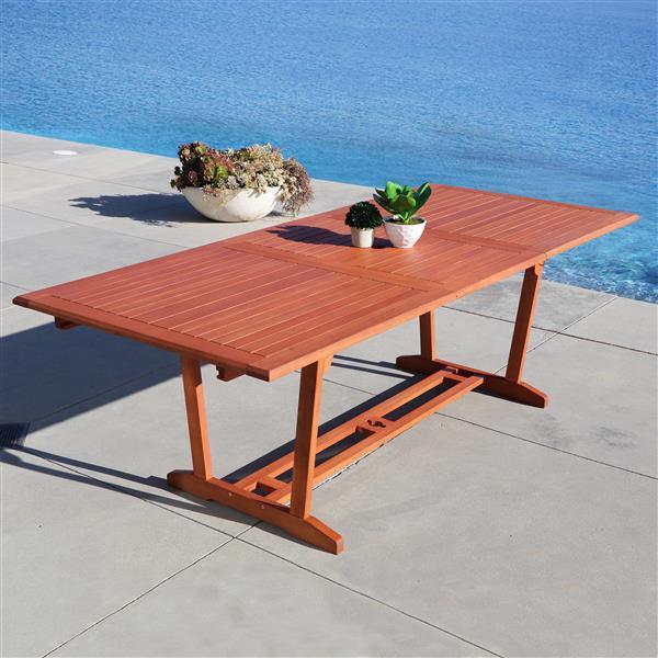Vifah Malibu Dining Set Extension Table & Reclining Chairs - 7-pcs
