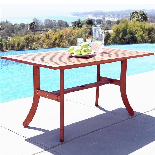 Ens. de table à manger 5 pièces Malibu de Vifah  avec chaises courbées