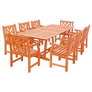 Ensemble de repas d'extérieur extensible Malibu de Vifah, 9 mcx