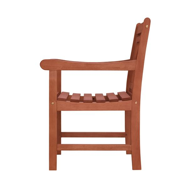Vifah Malibu Outdoor Patio Wood Conversation Set -  3 pcs
