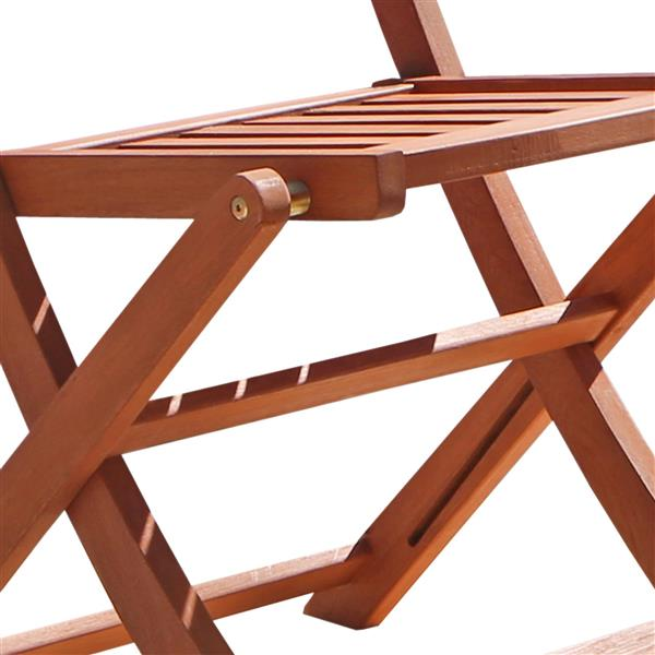 Vifah Malibu Outdoor Wood Patio Bistro Set - 3-pcs