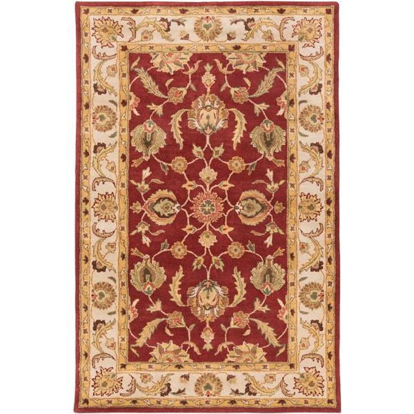 Surya Oxford Traditional Area Rug - 5-ft x 8-ft - Rectangular - Clay/Khaki