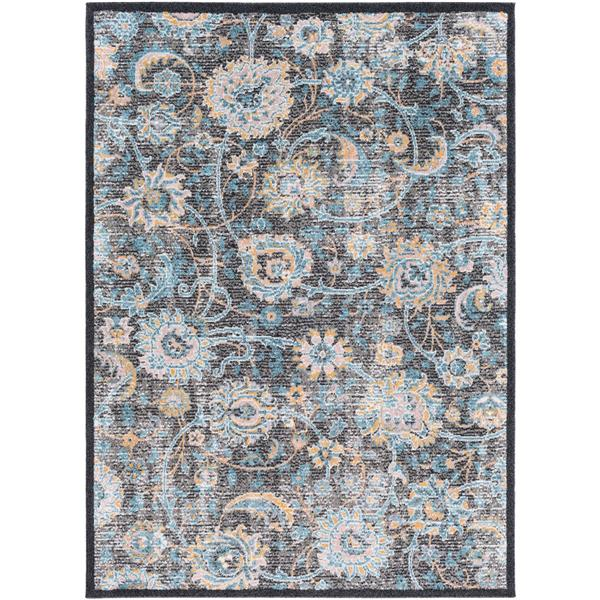 Surya Azul Updated Traditional Area Rug - 7-ft 10-in x 10-ft 3-in - Rectangular - Black